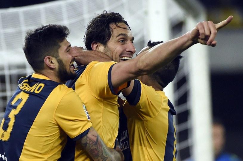 Luca Toni (w środku) /AFP