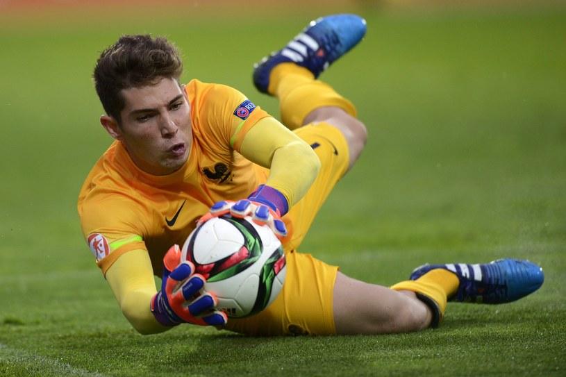 Luca Zidane, bramkarz młodzieżowej reprezentacji Francji /AFP