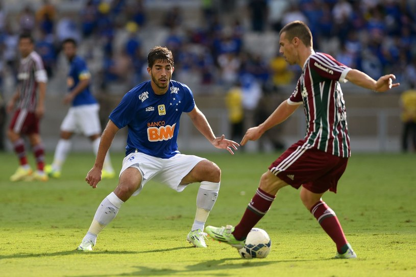 Lucas Silva (z lewej) /AFP