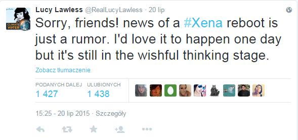 Lucy Lawless niszczy nadzieje fanów. Ale może kiedyś? /internet
