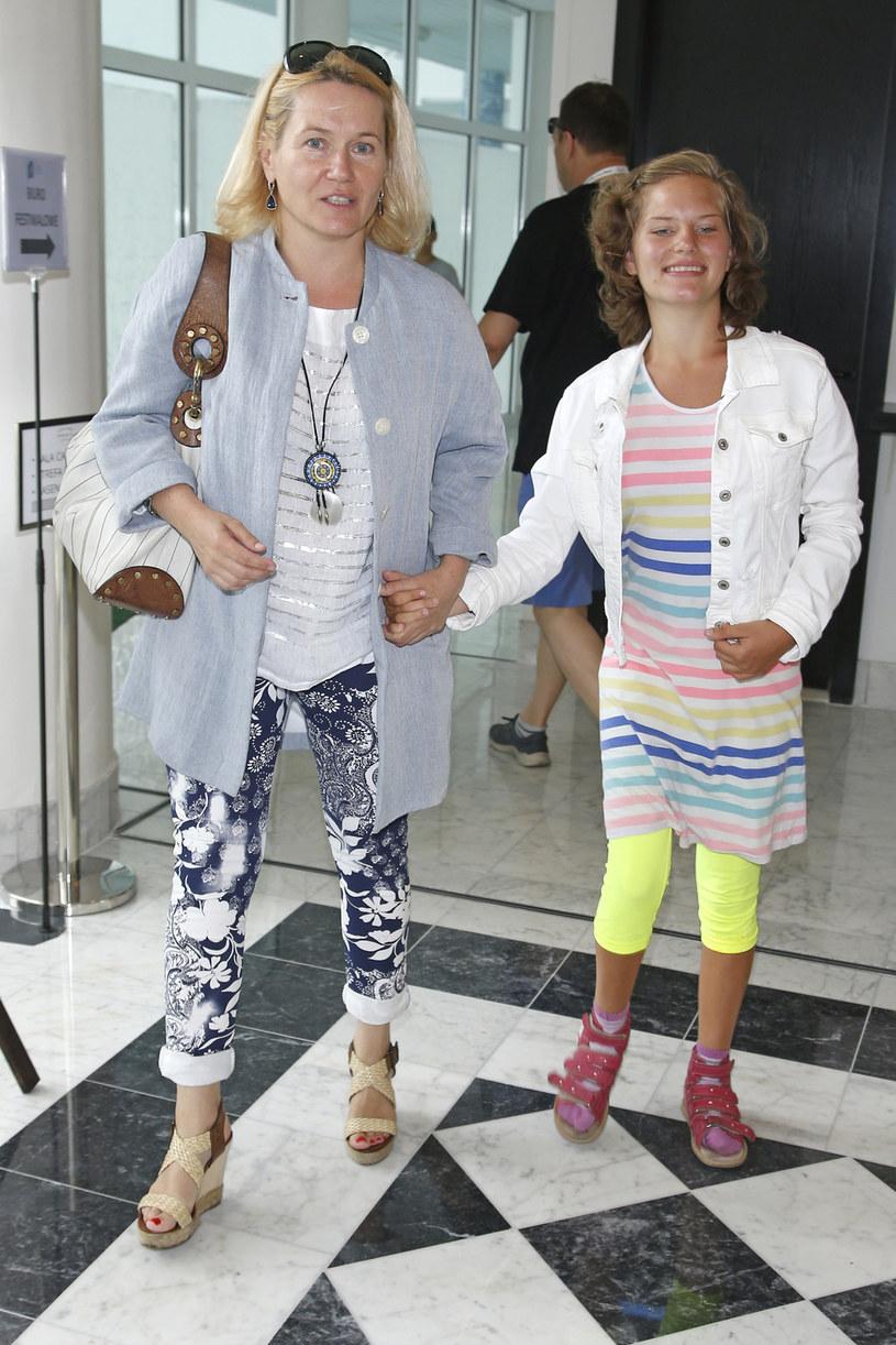 Lucyna Malec z córką /AKPA