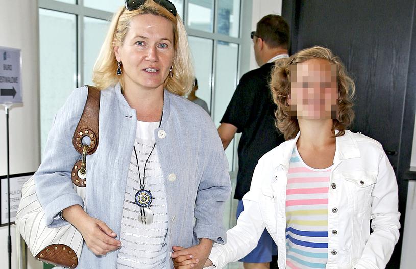 Lucyna Malec z córką /Podlewski /AKPA