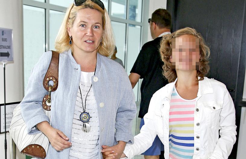 Lucyna Malec z córką /Podlewski