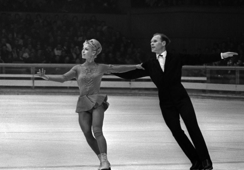 Ludmiła Biełousowa i Oleg Protopopow podczas igrzysk w 1968 roku /AFP