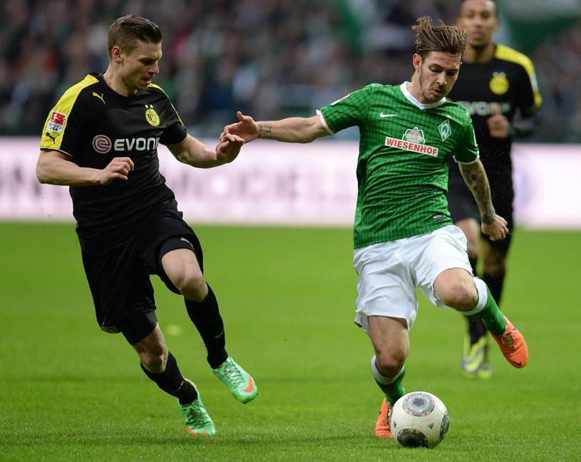 Ludovic Obraniak (z prawej) tu w koszulce Werderu Brema /AFP