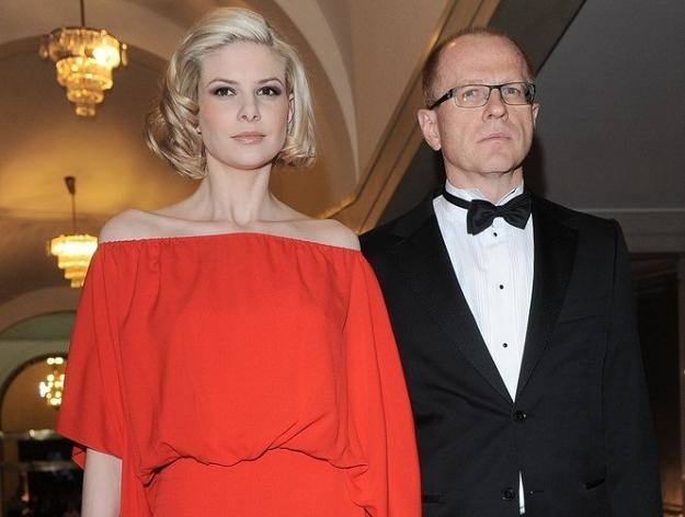 Ludwik Sobolewski ze swoją partnerką, Anną Szarek. Fot. TRICOLORS /Agencja SE/East News