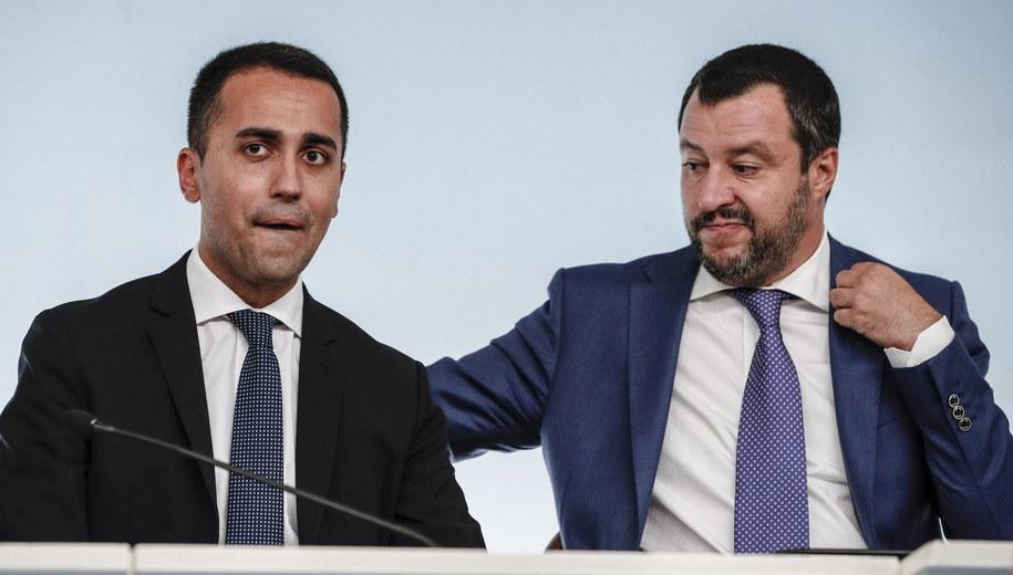 Luigi Di Maio i Matteo Salvini /GIUSEPPE LAMI /PAP/EPA