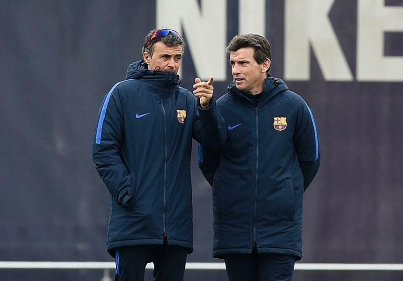 Luis Enrique (L) i Juan Carlos Unzue /AFP