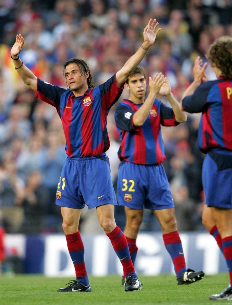 Luis Enrique w białej koszulce Realu zagrał łącznie ponad 200 razy. Nie mógł jednak znaleźć wspólnego języka z zarządem i kibicami. Dużo lepiej wiodło mu się w Barcelonie /AFP