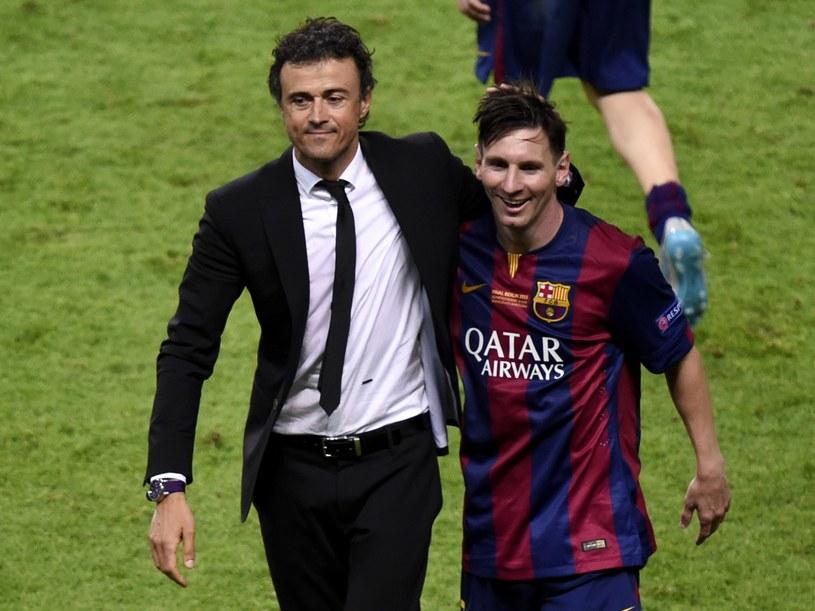 Luis Enrique (z lewej) i Lionel Messi /AFP