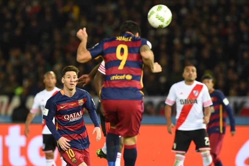 Luis Suarez strzela gola na 3-0 dla Barcelony /AFP
