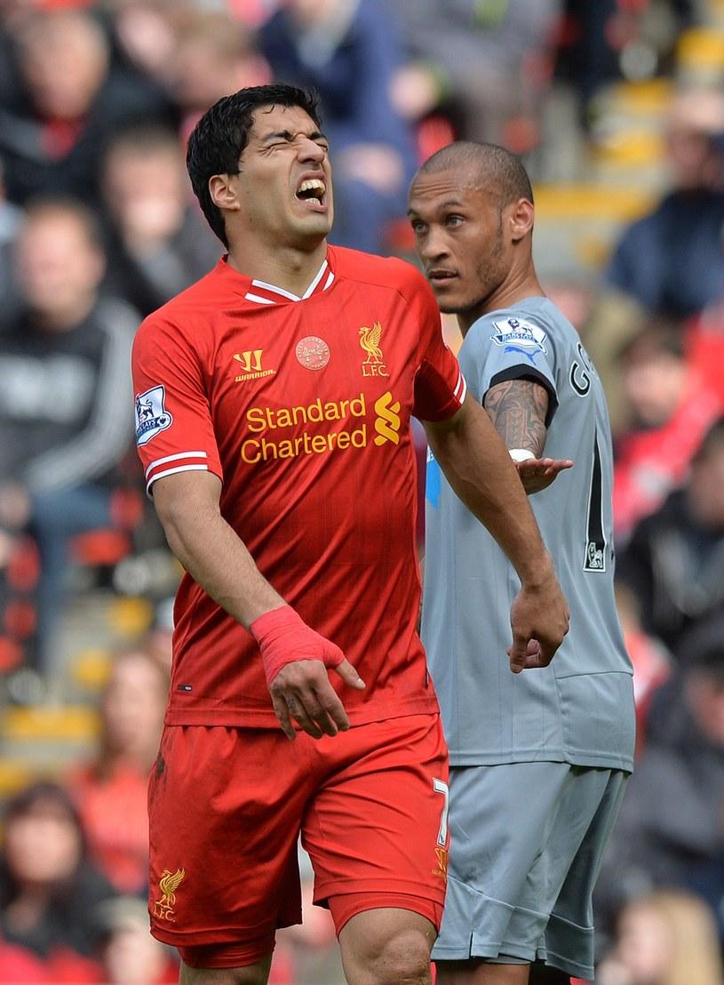 Luis Suarez w feralnym meczu z Newcastle United /AFP