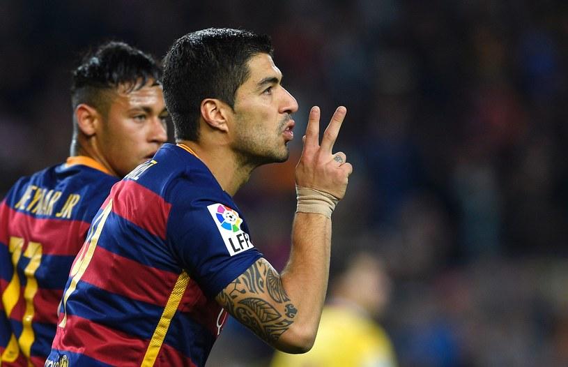 Luis Suarez, w tle Neymar /AFP