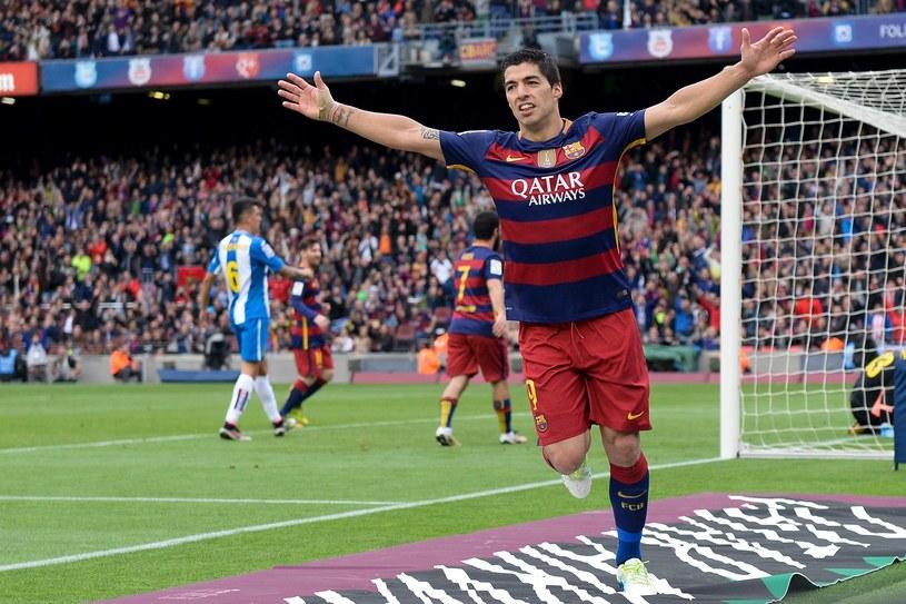 Luis Suarez walczy o koronę króla strzelców. W tym sezonie zdobył 37 bramek, o cztery więcej niż Cristiano Ronaldo /AFP