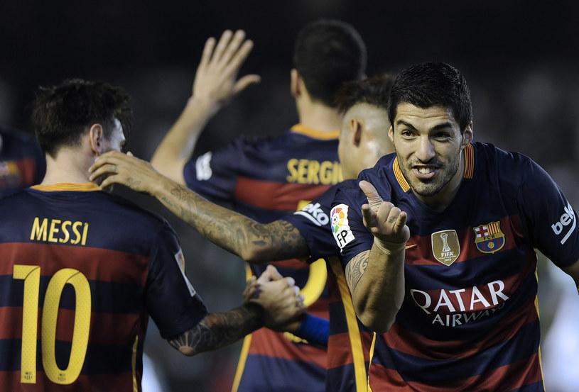 Luis Suarez walczy o tytuł króla strzelców, czy w niedzielę strzeli gola Espanyolowi? /AFP