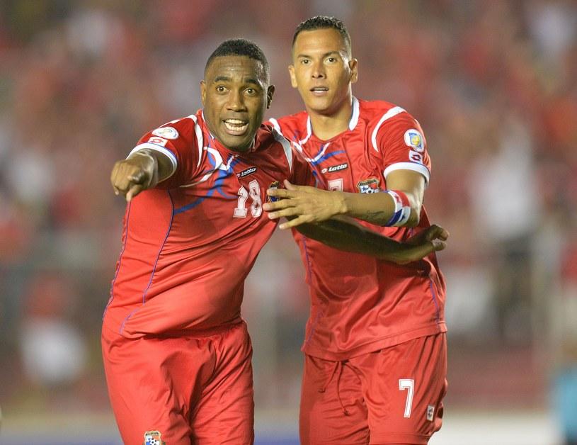 Luis Tejada (z lewej) i Blas Perez z reprezentacji Panamy /AFP