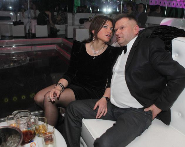 Luiza Kobyłecka i Krzysztof Rutkowski w klubie Pomarańcza w Łodzi /Cezary Pecold /Agencja SE/East News