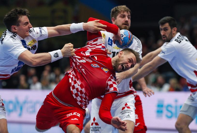 Luka Cindrić w meczu z Austrią /PAP/EPA