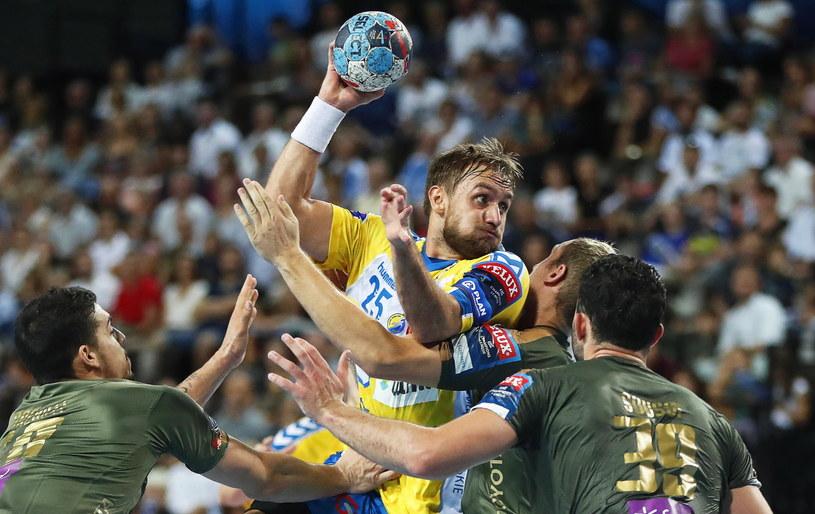 Luka Cindrić w meczu z Montpellier /PAP/EPA