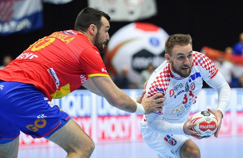 Luka Cindrić (z piłką) podczas tegorocznych mistrzostw świata /AFP