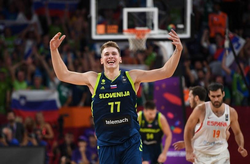 Luka Donczić z reprezentacji Słowenii /AFP