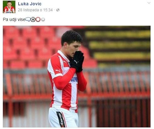 Luka Jović (fot. oficjalny fanpejdż piłkarza) /Internet
