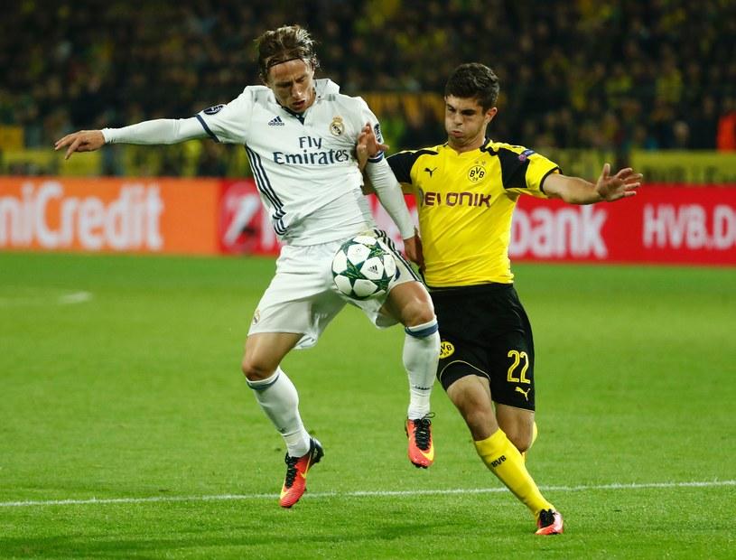 Luka Modrić (z lewej) podczas meczu z Borussią /AFP