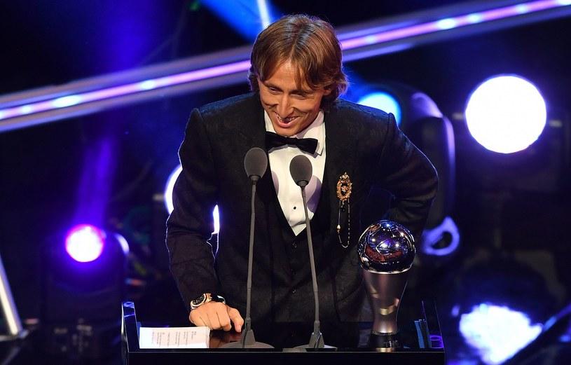 Luka Modrić z nagrodą /AFP