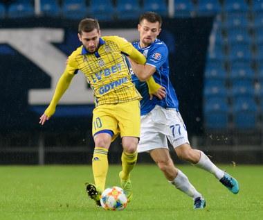 Luka Zarandia (Arka Gdynia) po meczu z Lechem Poznań 0-1. Wideo