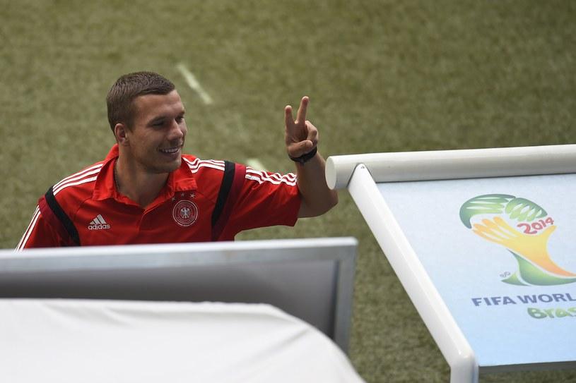"""Lukas Podolski, czyli """"najbardziej Brazylijski Niemiec"""" /AFP"""