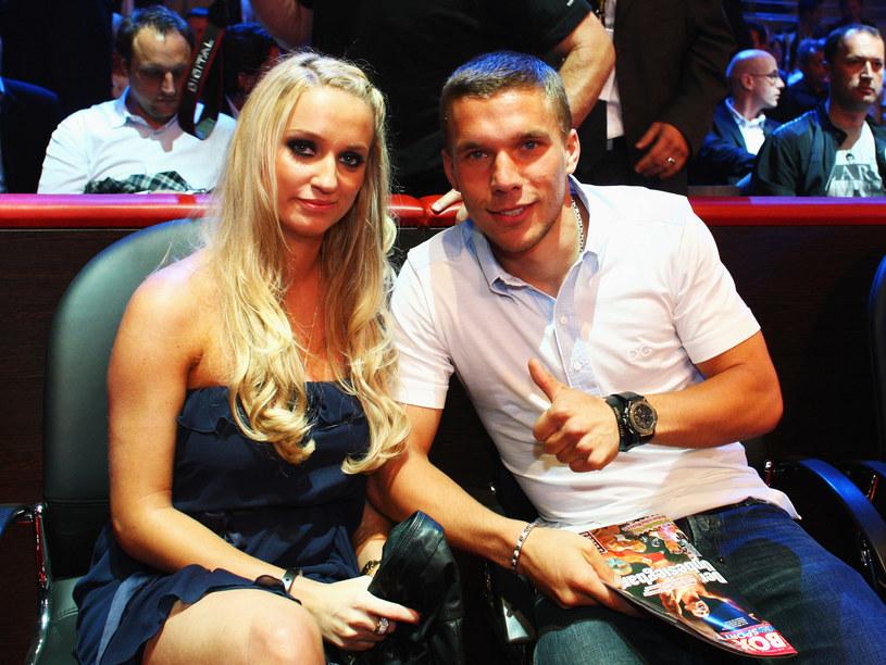 Lukas Podolski i Monika Puchalska, 2009 rok /Vladimir Rys /Getty Images