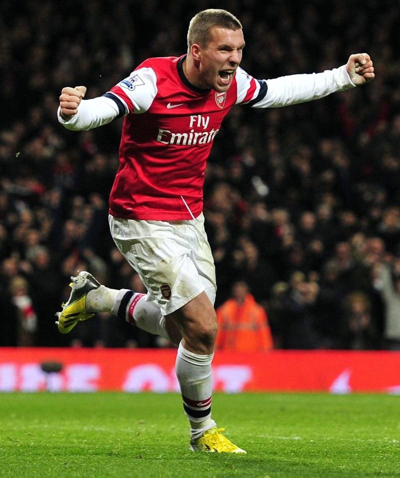 Lukas Podolski, piłkarz Arsenalu Londyn /AFP