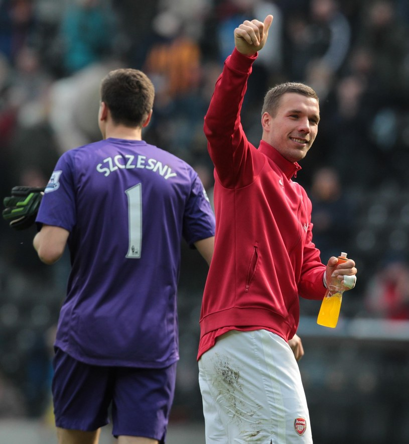 Lukas Podolski, piłkarz Arsenalu /AFP