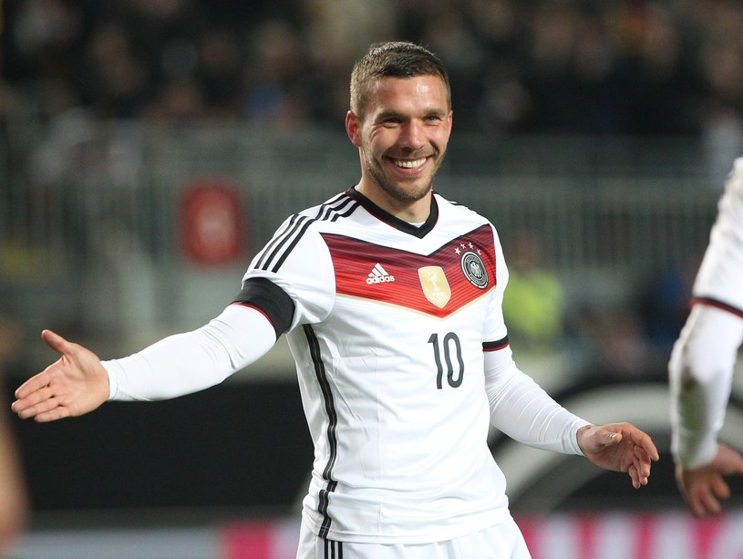 Lukas Podolski w koszulce reprezentacji Niemiec /AFP