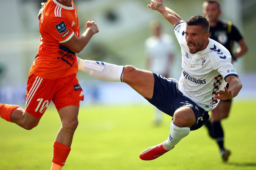 Lukas Podolski w meczu z Termalicą /Łukasz Gągulski /PAP