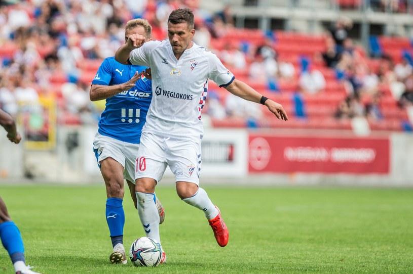 Lukas Podolski zadebiutował w barwach Górnika Zabrze /MICHAL CHWIEDUK / FOKUSMEDIA.COM.PL / NEWSPIX.PL /Newspix