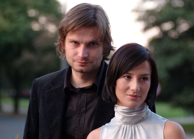 Łukasz Barczyk i Maja Ostaszewska, 2003 rok /Piotr Fotek/REPORTER /East News