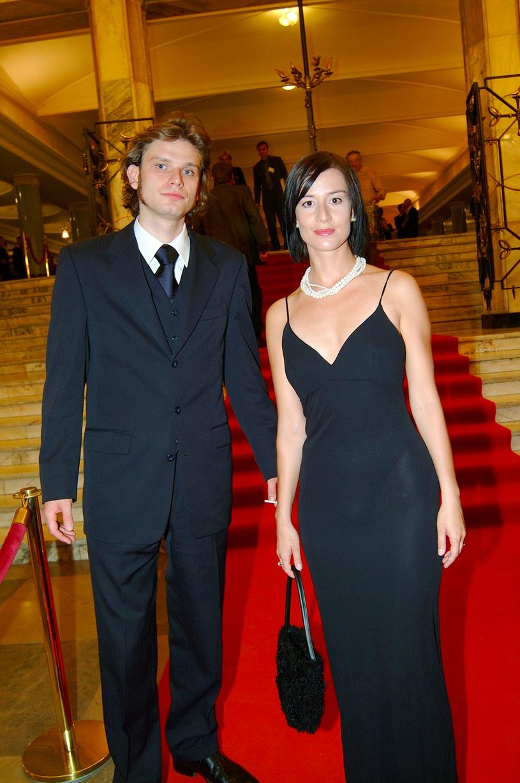 Łukasz Barczyk i Maja Ostaszewska, 2003 rok /Prończyk /AKPA