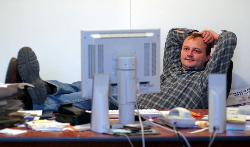 Łukasz Foltyn w pracy.  EN LESZEK ZYCH/REPORTER /East News