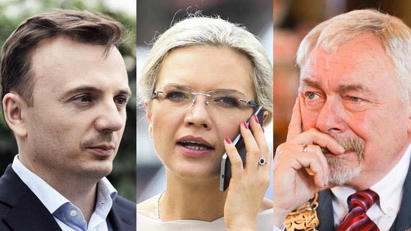 Łukasz Gibała, Małgorzata Wassermann, Jacek Majchrowski /Marek Lasyk/REPORTER /Andrzej Hulimka/Forum / Beata Zawrzel/REPORTER /East News