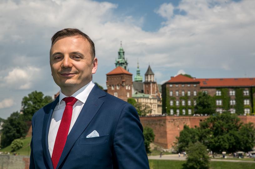 Łukasz Gibała ogłosił start w wyborach na prezydenta Krakowa /FOT. ANNA KACZMARZ / DZIENNIK POLSKI / POLSKA PRESS /East News