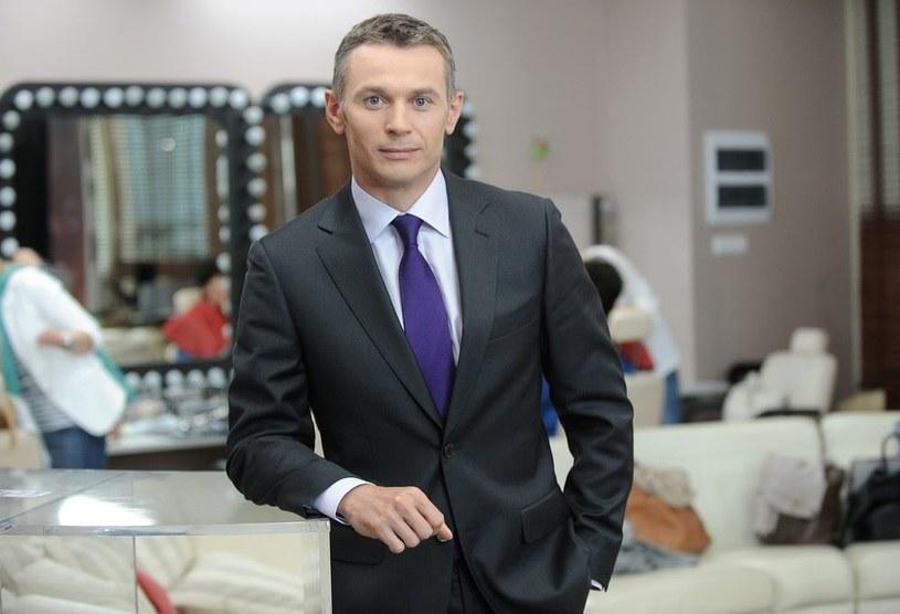 Łukasz Grass na planie Dzień Dobry TVN /East News