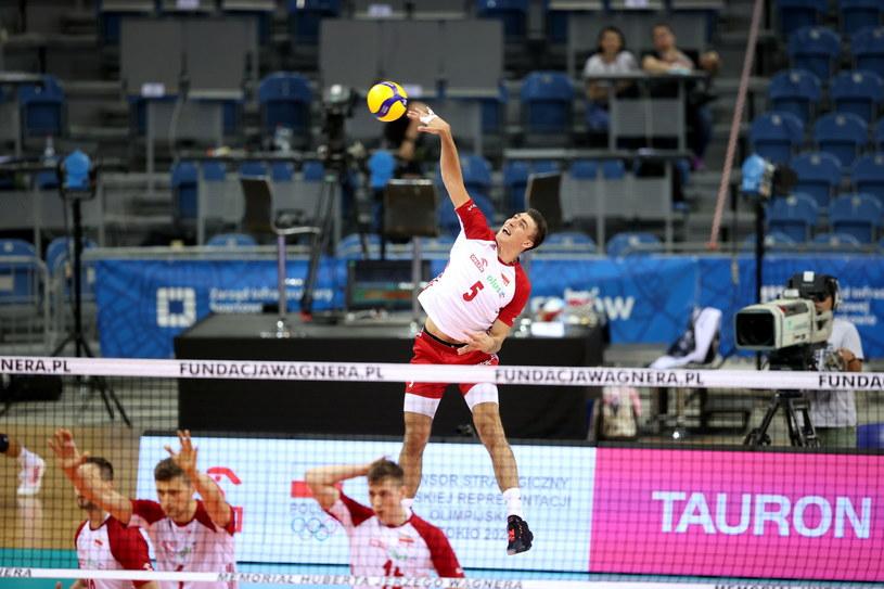 Łukasz Kaczmarek rozegrał cały mecz przeciwko Norwegom /PAP/Łukasz Gągulski /PAP