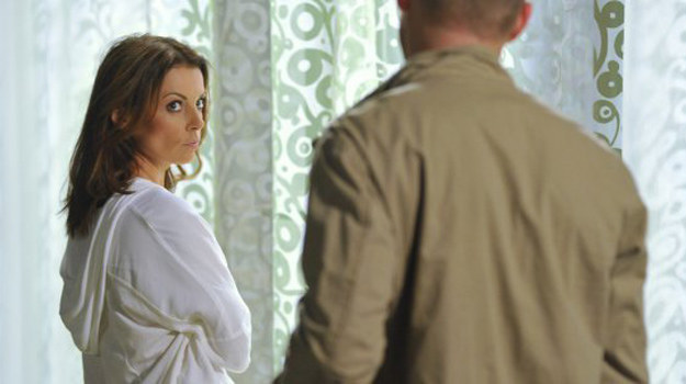 Łukasz kategorycznie zaprzecza, że znów jest z Dominiką. Wyznaje miłość i liczy na przebaczenie. Czy się go doczeka? /www.barwyszczescia.tvp.pl/