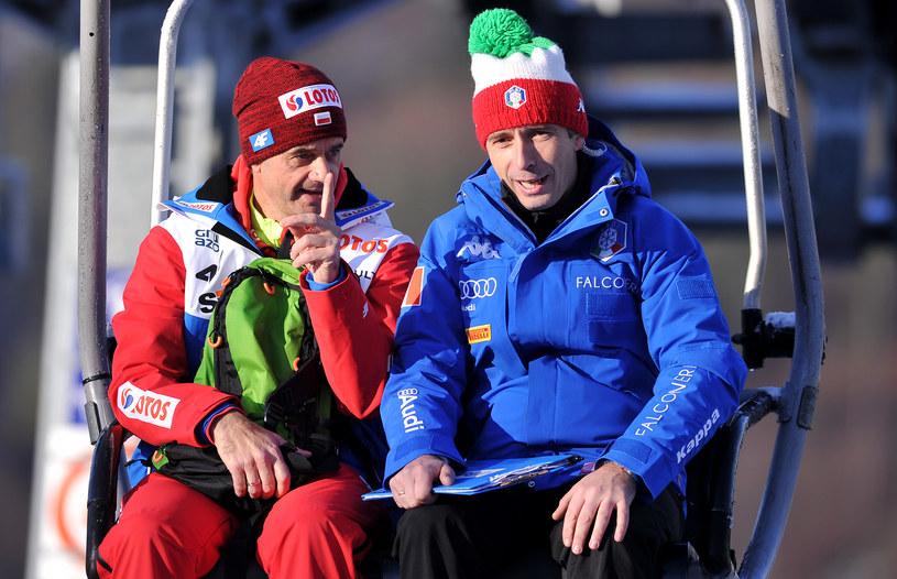 Łukasz Kruczek (z prawej) i Stefan Horngacher. Symbolika zdjęcia? Czas pokaże... /Getty Images