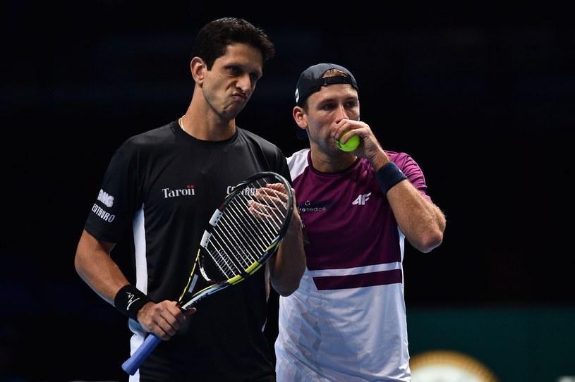 Łukasz Kubot (z prawej) i Marcelo Melo /AFP