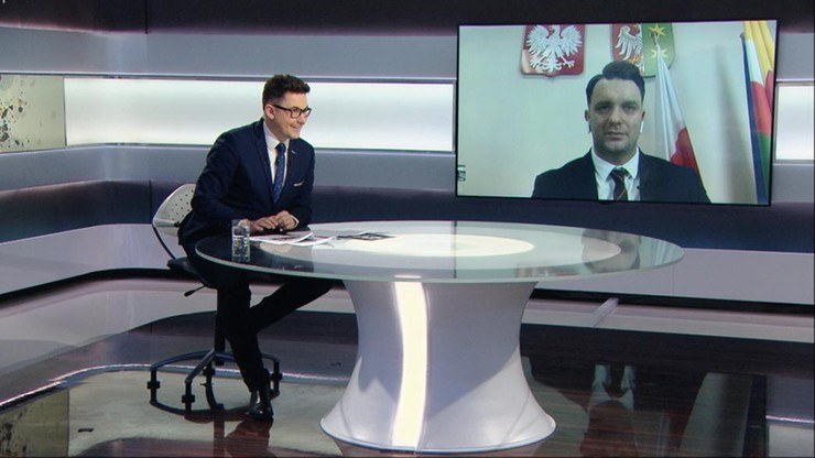 """Łukasz Mejza w """"Graffiti"""" /Polsat News"""