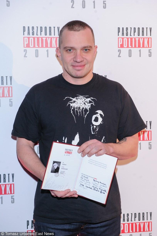 Łukasz Orbitowski z Paszportem Polityki /Tomasz Urbanek /East News