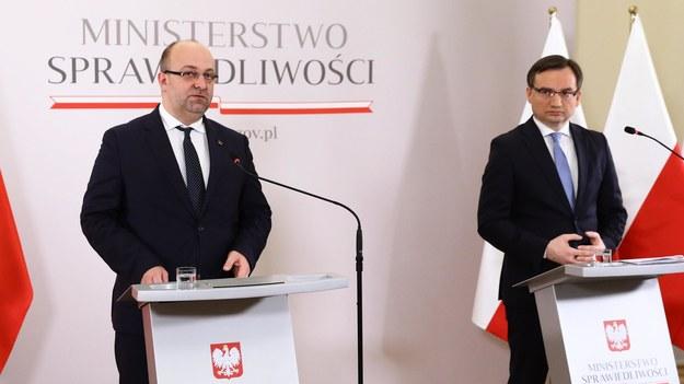 Łukasz Piebiak i Zbigniew Ziobro /Rafał Guz /PAP