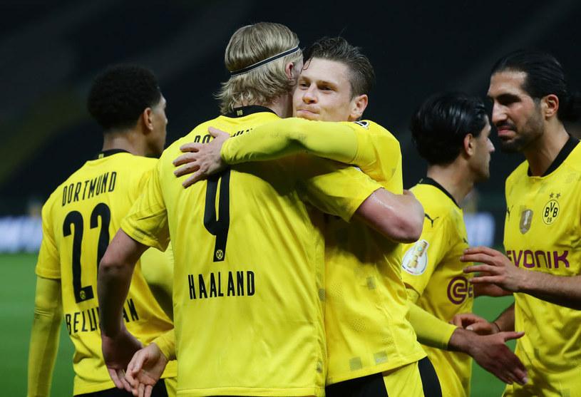 Łukasz Piszczek i Erling Haaland jeszcze razem w Borussii Dortmund /FILIP SINGER /Getty Images